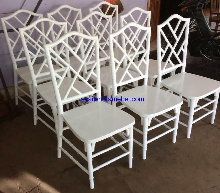 Kursi Tiffany Bambu Dekorasi