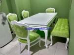 Kursi Meja Makan Cat Putih