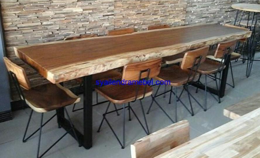 Set Kursi Cafe Kayu Trembesi Syailendra Mebel Jepara