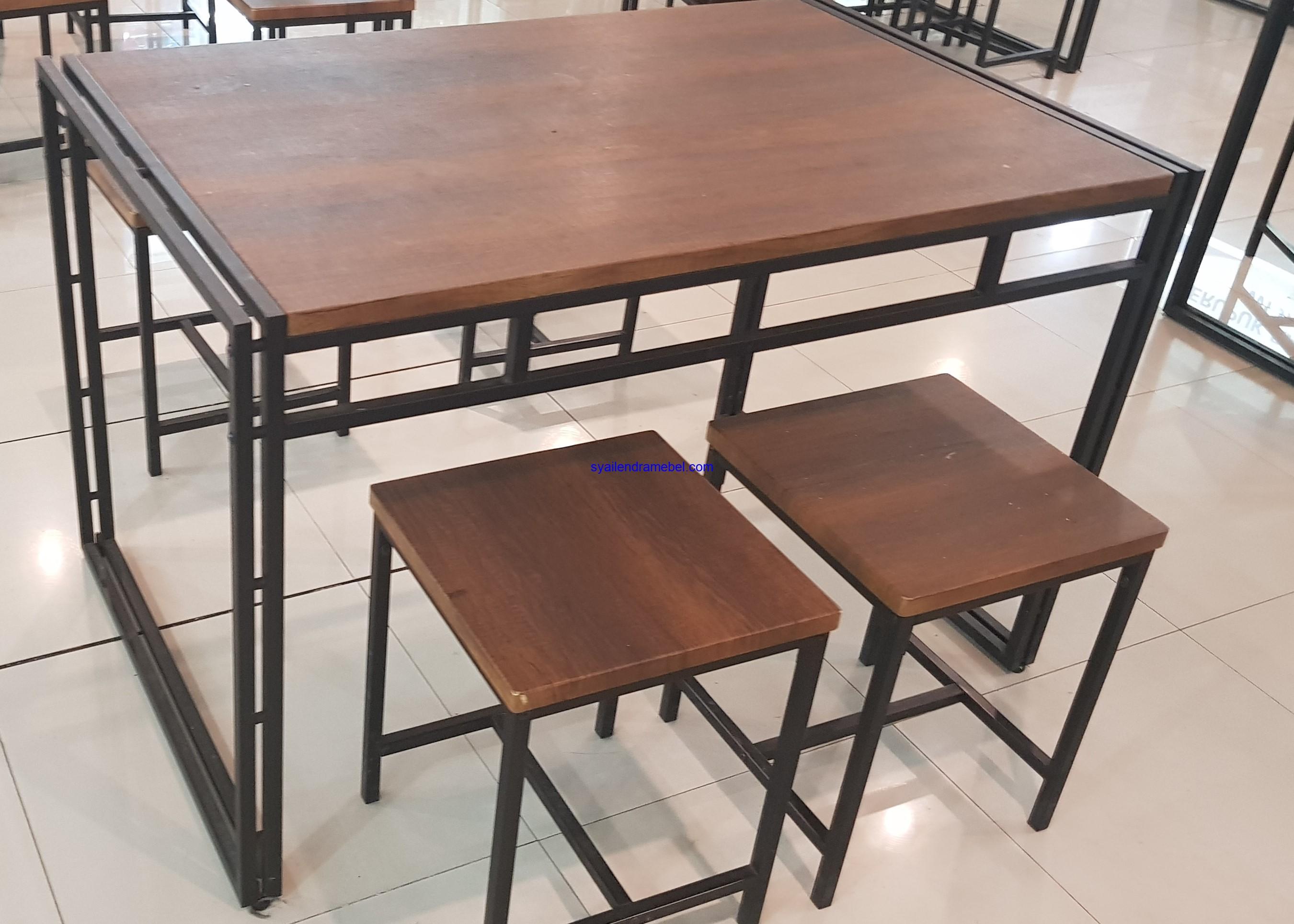 Set Kursi Cafe Besi Kayu