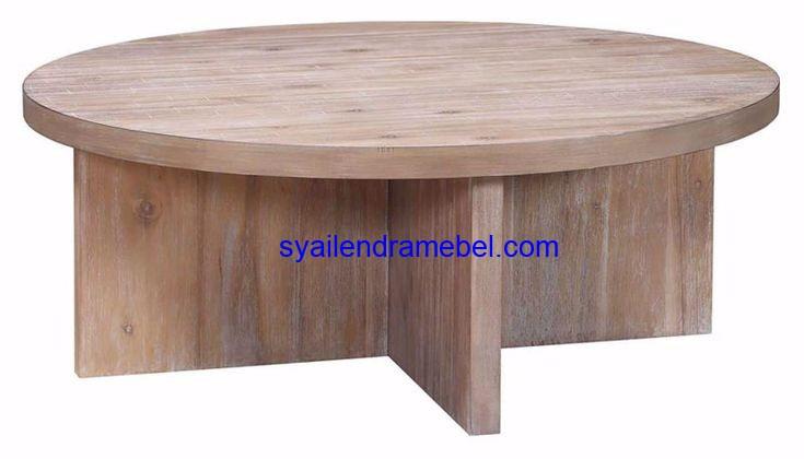 Coffe Table Jati Minimalis