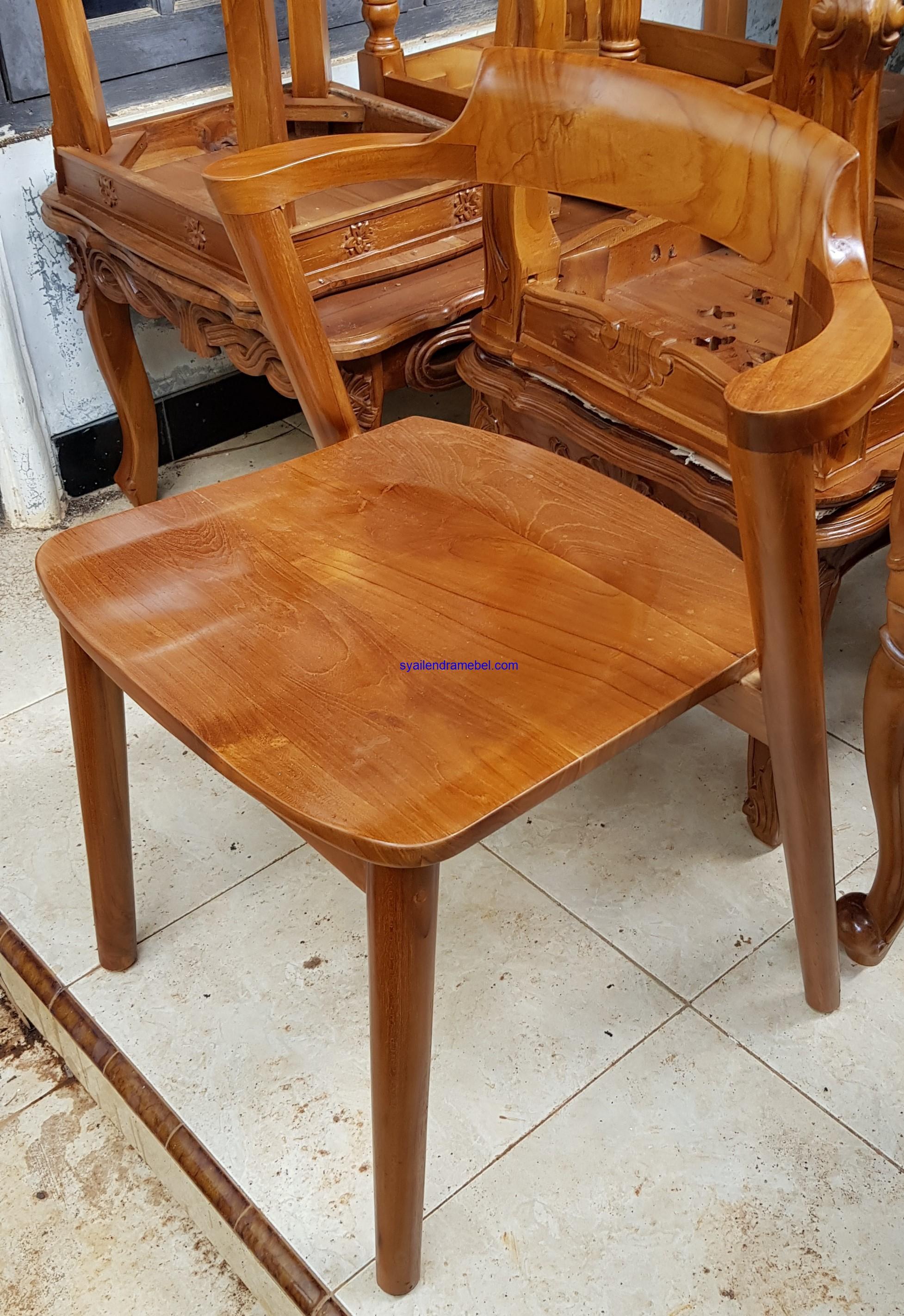Kursi Cafe Minimalis Jati Vintage
