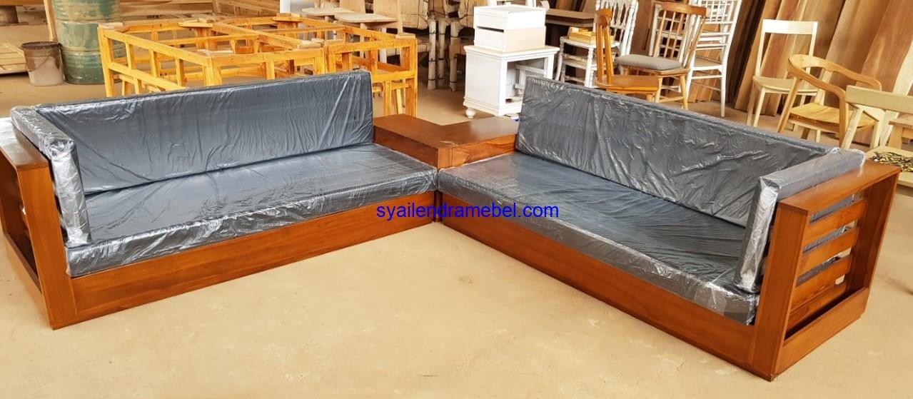 Sofa Sudut Jati Jepara