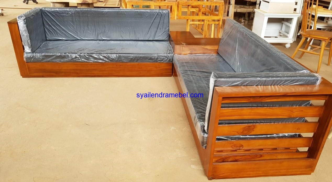Sofa Sudut Tamu Jati
