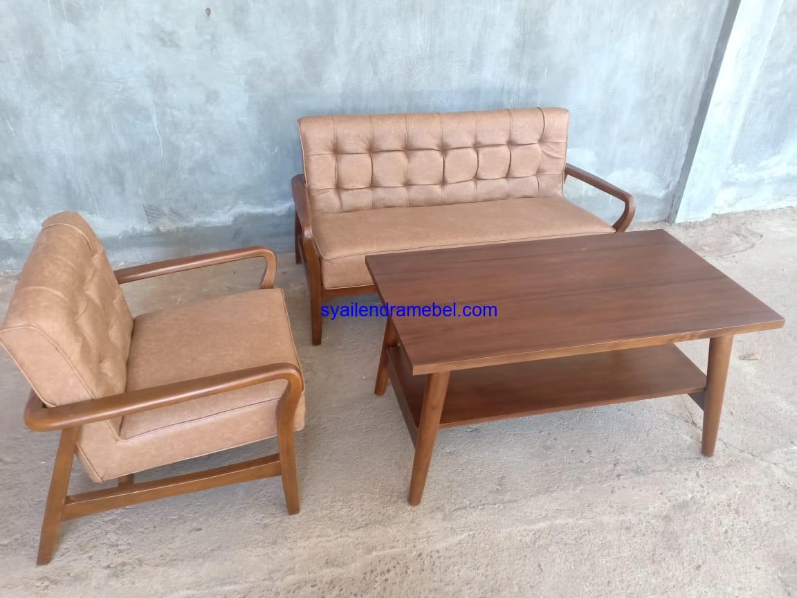 Kursi Tamu Jati Minimalis Sofa