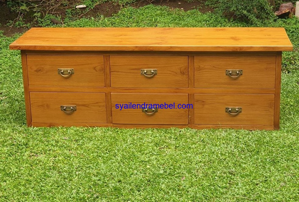 Meja Nakas Drawer Jati