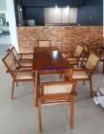 Set Kursi Makan Cafe Kayu Jati