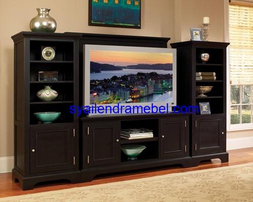Bufet Tv Jati Minimalis Black