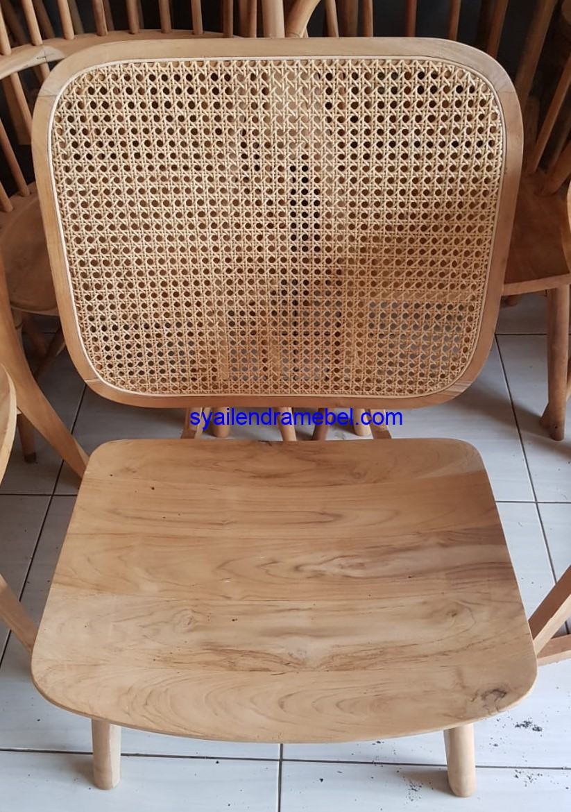Kursi Cafe Rotan Kayu Big