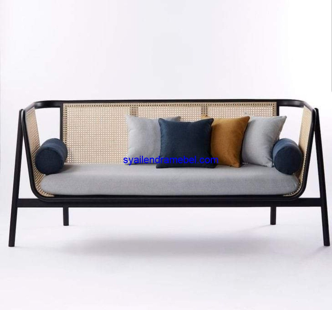 Sofa Bench 3 Seater Rotan