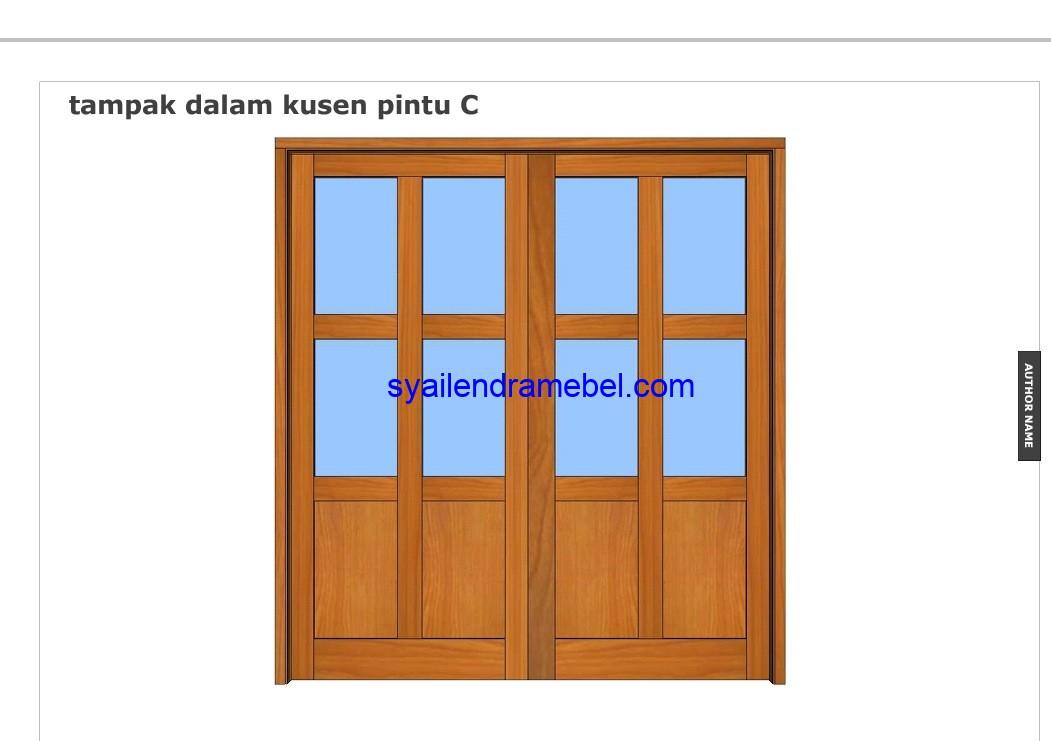 Kusen Pintu Jati Rumah Samping
