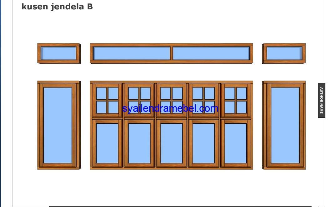 Set Kusen Pintu Jendela Kayu